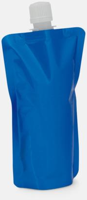 Blå Vikbara vattenflaskor i mindre storlek med reklamtryck