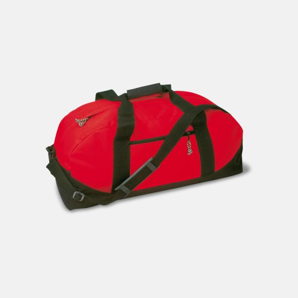 Röd / Svart Billigare sportbagar med reklamtryck