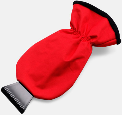 Röd / Svart Isskrapa med handske