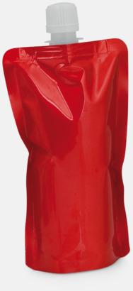 Röd Vikbara vattenflaskor i mindre storlek med reklamtryck