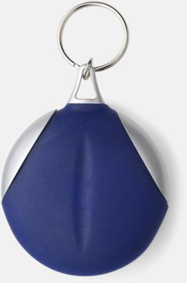 Marinblå / Silver Putsduk med tryck
