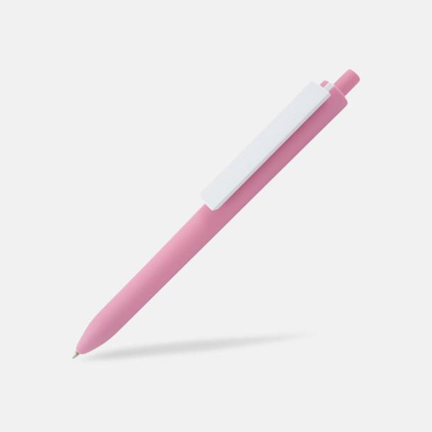 Rosa / Vit Läckra bläckpennor med reklamtryck