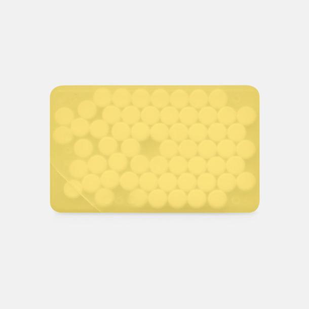 Gul transparent Fresh Card med eget tryck