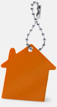 Orange Kulkedja med husfigur med reklamtryck
