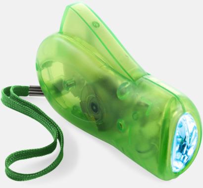 Limegrön Miljövänliga ficklampor med eget tryck