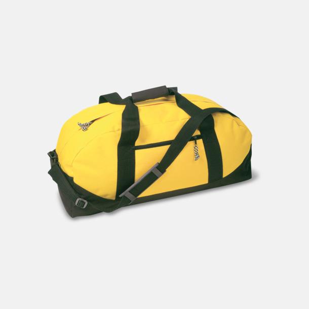 Gul / Svart Billigare sportbagar med reklamtryck
