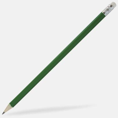 Grön Blyertspennor som kan expresslevereras med reklamtryck