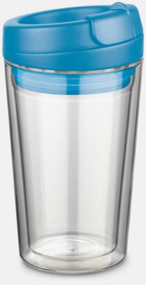 Ljusblå 27 cl take away glas med reklamtryck