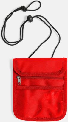 Röd Reseplånbok med eget tryck