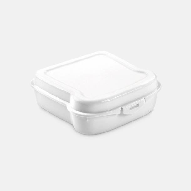 Vit Mackformade matlådor med reklamtryck