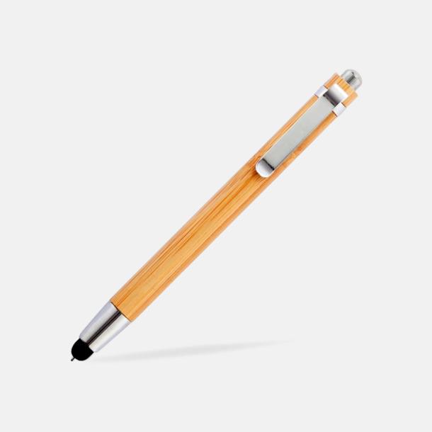 Touchpennor i eko-bambu med reklamlogo