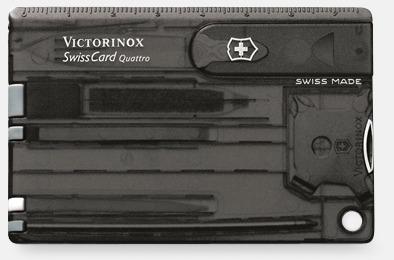 Transparent Svart Victorinox SwissCard Quattro