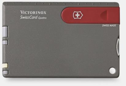 Grå/Röd Victorinox SwissCard Quattro