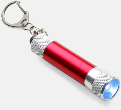 Röd / Silver Ficklampor med gravyr