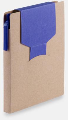 Blå Förslutningsbara notisblock med reklamtryck