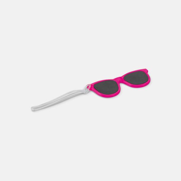 Fuchsia Brickor formade som solglasögon med reklamtryck