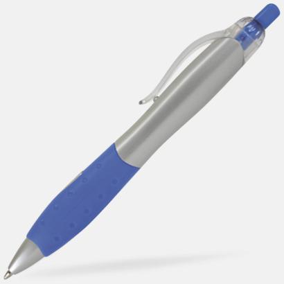Silver/blå Silverlackade pennor med eget tryck