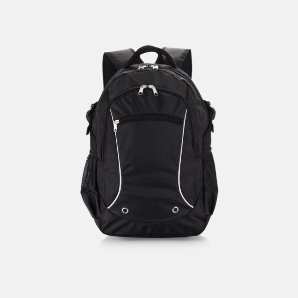Svart Sportiga laptopryggsäckar i PVC-fritt material med reklamtryck