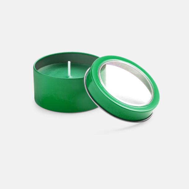Grön Vaniljedotande värmeljus med reklamtryck