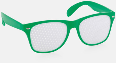 Grön Solglasögon med tryck direkt på glaset