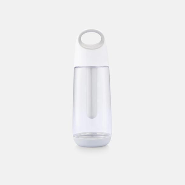 Vit Hållbar miljövattenflaskor med reklamtryck