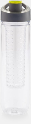 Grön BPA-fria vattenflaskor med fruktbehållare med reklamtryck