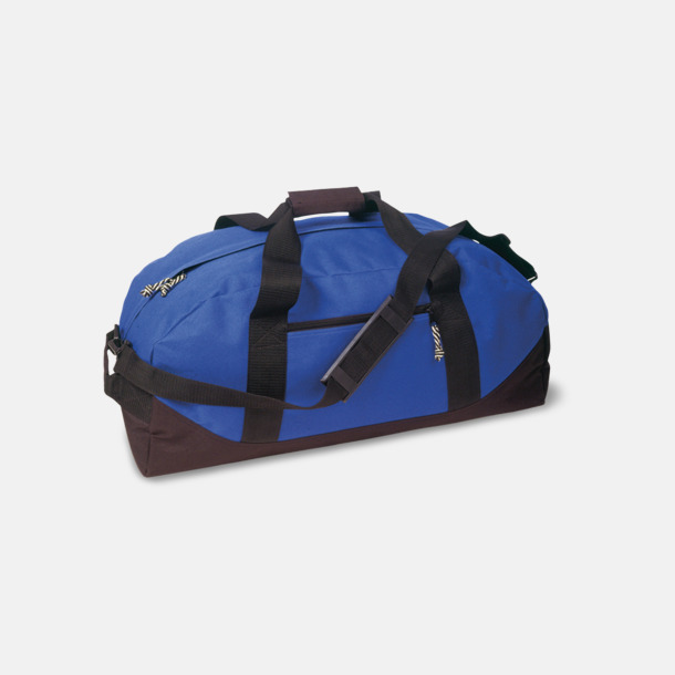 Royal Blue/Svart Billigare sportbagar med reklamtryck