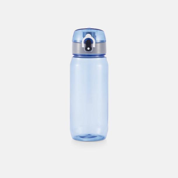 Blå BPA-fria sportflaskor med reklamtryck