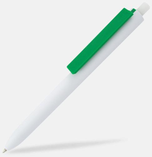 Vit / Grön Läckra bläckpennor med reklamtryck
