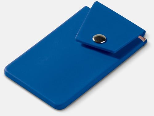 Blå Mobilfickor med knäppning - med reklamtryck
