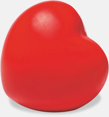 Röd Hjärtformad stressboll med eget tryck