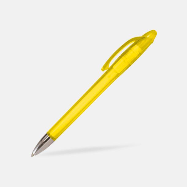 Transparent gul Pennor med tryck