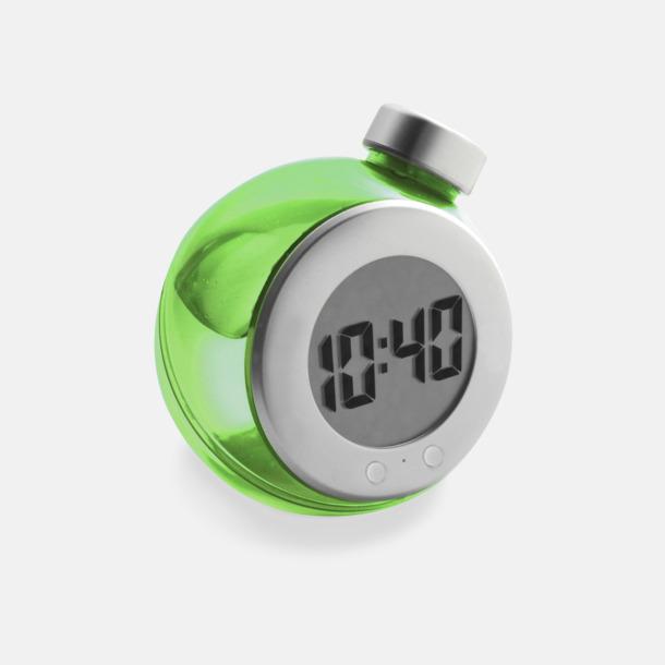 Grön Vattendrivna klockor med reklamtryck