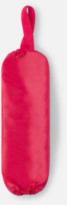Röd Plastpåseförvaring med reklamtryck