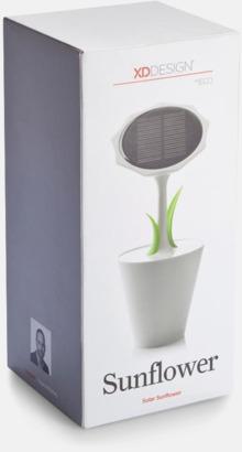 Presentförpackning Solcellsladdare i blomdesign med reklamtryck