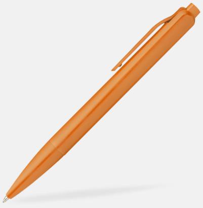 Orange Kulspetspennor i matt finish med reklamtryck
