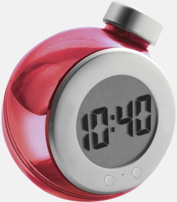 Röd Vattendrivna klockor med reklamtryck