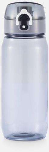 Svart BPA-fria sportflaskor med reklamtryck