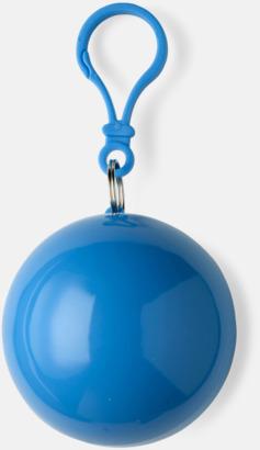 Blå Regnponcho i boll med tryck