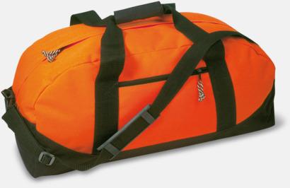 Orange / Svart Billigare sportbagar med reklamtryck