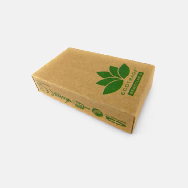 Mijöförpackning Ovalt eko USB-minne med eget tryck