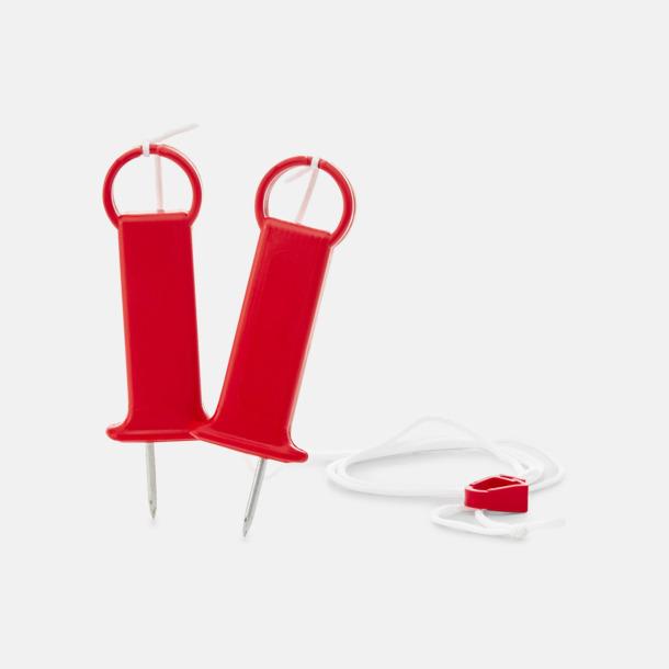 Röd (PMS 186) Isdubbar med eget tryck