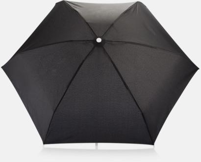 "Vit 19,5""-paraplyer i återvunnet material med reklamtryck"