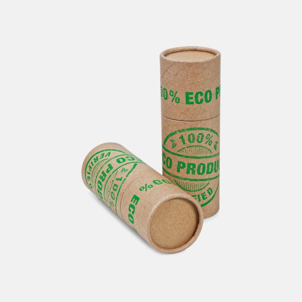 Eko-variant (se tillval) Långa brasstickor i runda askar om 45 eller 68 st med reklamtryck