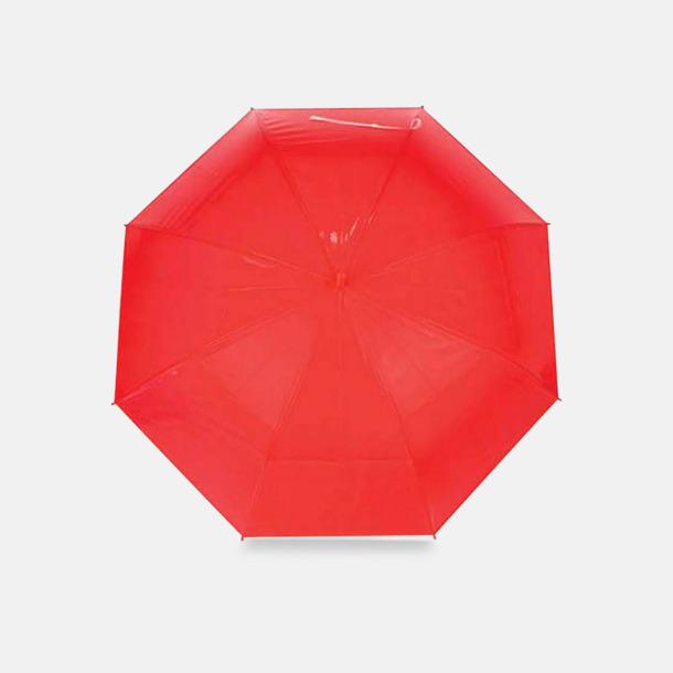 Röd Genomskinliga paraplyer med reklamtryck