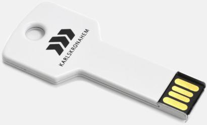 Vit USB minne nyckel