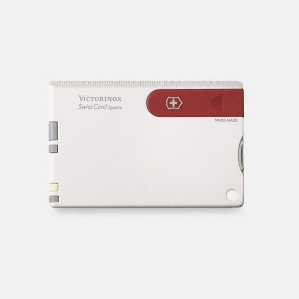 Vit/Röd Victorinox SwissCard Quattro