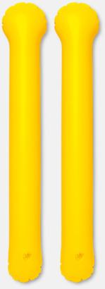 Gul Roliga, uppblåsbara trumpinnar med reklamtryck