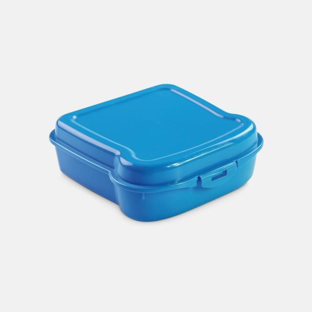 Blå Mackformade matlådor med reklamtryck