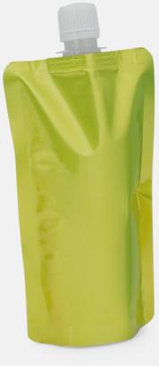 Gul Vikbara vattenflaskor i mindre storlek med reklamtryck